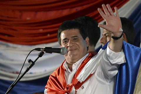 فوز كارتيس برئاسة باراجواى