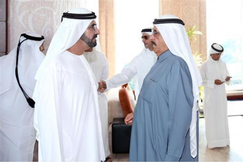 محمد بن راشد يصل إلى المنامة وفي استقباله ملك البحرين