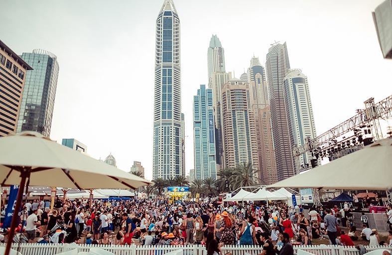 الآلاف يحتفلون بالسنة العاشرة لمهرجان مذاق دبي