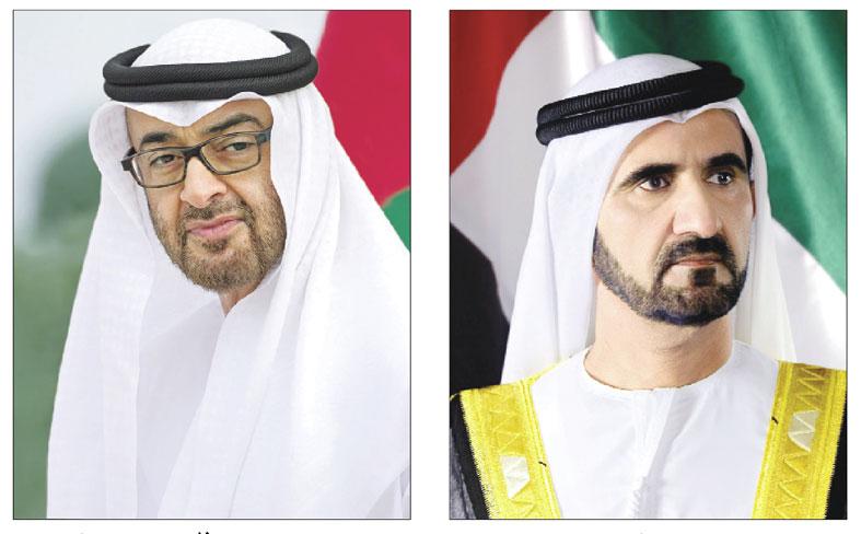 محمد بن راشد ومحمد بن زايد يهنئان قيادة وشعب المملكة العربية السعودية باليوم الوطني الـ 91