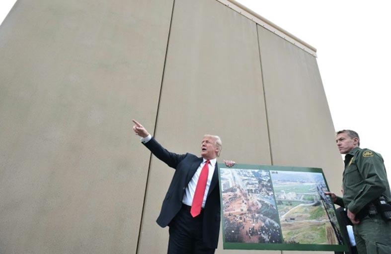 الجدار.. هو كل ما تبقى للباعث العقاري ترامب...