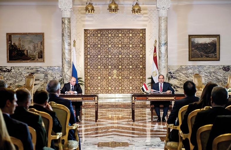 بوتين والسيسي يوقعات اتفاقية بناء أول محطة نووية مصرية