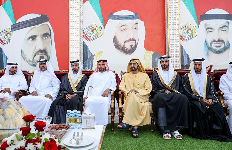 محمد بن راشد يحضر أفراح الفلاسي والشامسي