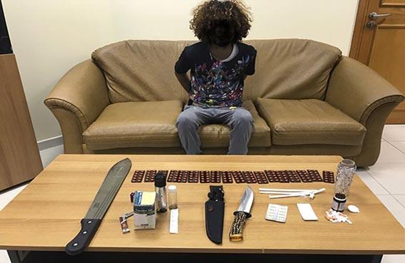شرطة رأس الخيمة تضبط تاجر المخدرات الخفي