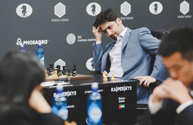 سالم عبدالرحمن يسجل أول فوز في الجائزة الكبرى للشطرنج