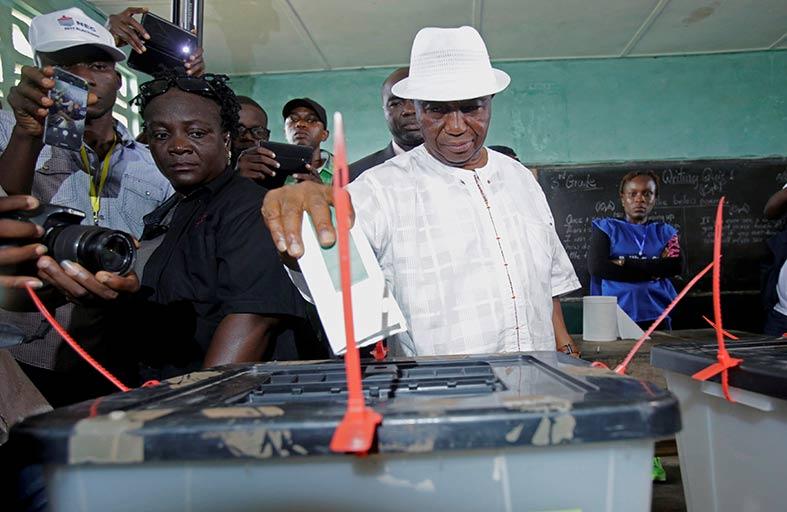 انتخابات رئاسية وتشريعية في ليبيريا