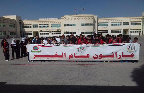 نادي مليحة الثقافي الرياضي يرعى مارثون الخير الطلابي بمشاركة 300 طالب وطالبه