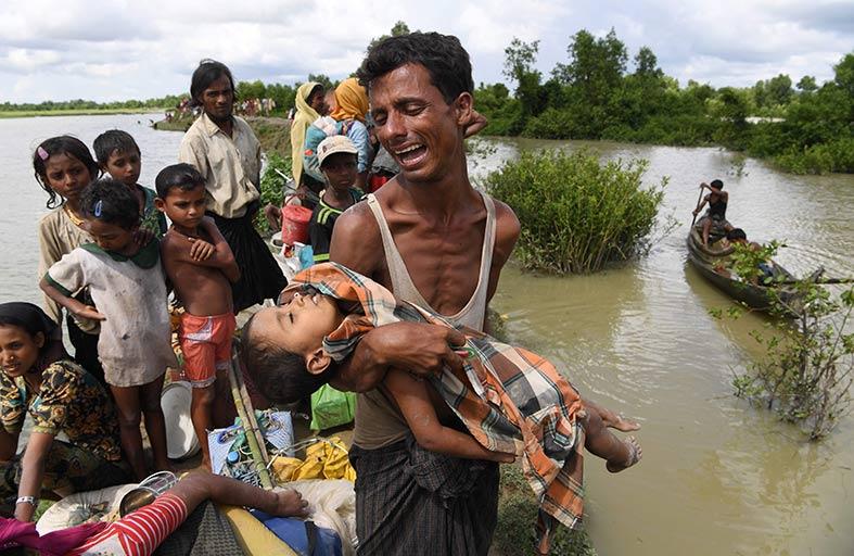 الروهينغا يعيشون حياة السجناء  في بنغلادش