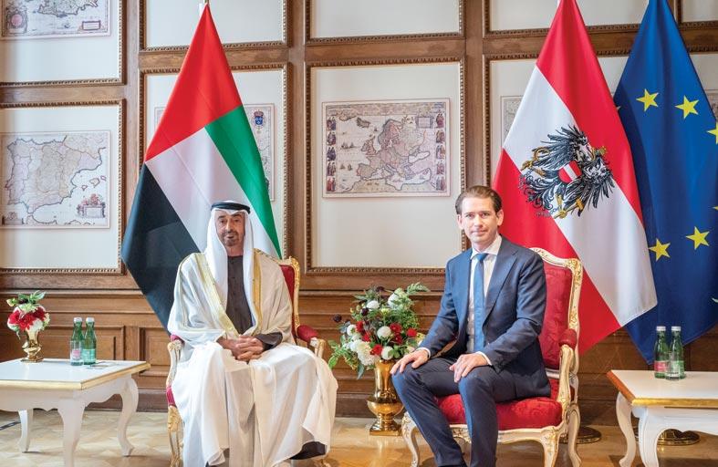 محمد بن زايد: الإمارات والنمسا ينتهجان استراتيجية واضحة في مواجهة التطرف والإرهاب وتجفيف مصادر تمويله