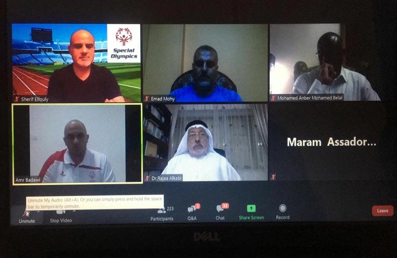 300 مدربا ومدربة للأولمبياد الخاص من الإمارات و 14 دولة عربية شاركت في أكبر دورة تدريبية لأم الألعاب على المنصة الافتراضية بتنظيم إماراتي
