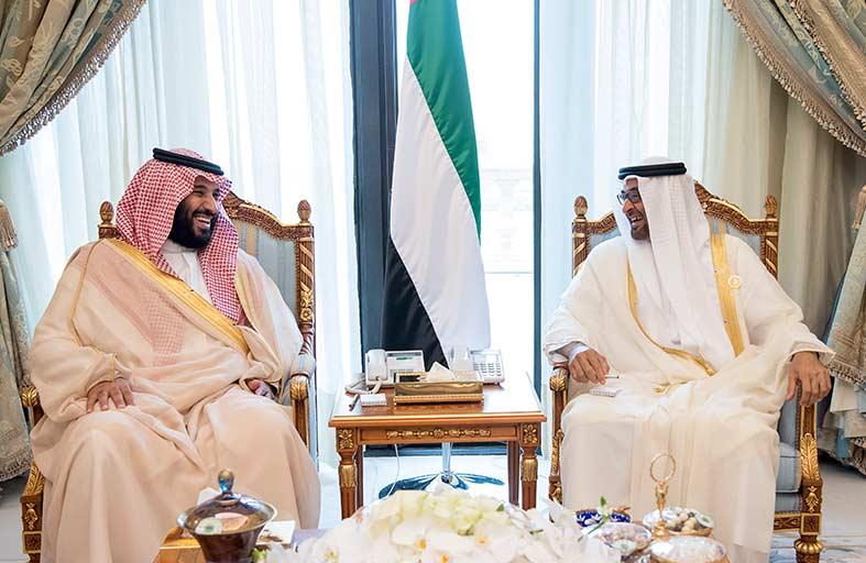 محمد بن زايد يلتقي في الرياض ولي ولي العهد السعودي