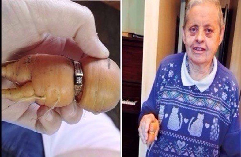 تعثر على خاتمها بجزرة بعد 10 أعوام