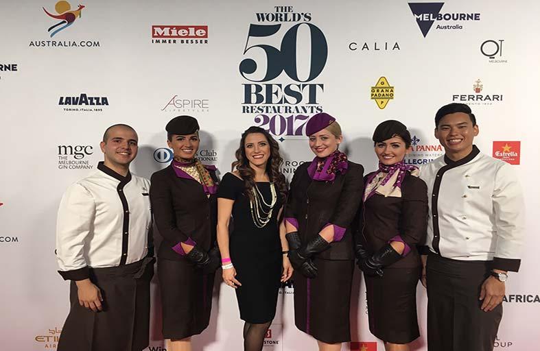 الاتحاد للطيران تستضيف نخبة الطهاة المشاركين في جوائز أفضل 50 مطعماً في العالم في أستراليا