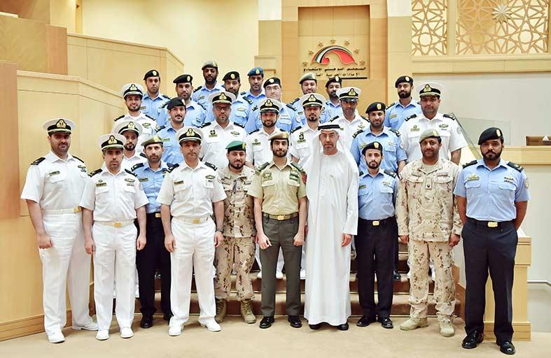 وفد معهد القوات البحرية يطلع على إنجازات المجلس الوطني الاتحادي