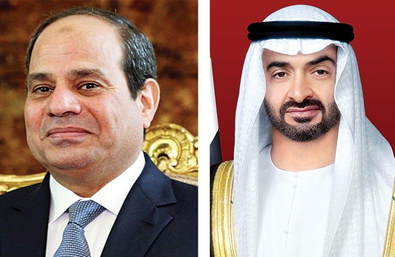 محمد بن زايد والرئيس المصري يبحثان هاتفيا علاقات البلدين وتطورات القضايا الإقليمية