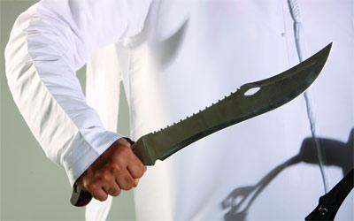 اصابة مواطن في مشاجرة بالسلاح الأبيض برأس الخيمة