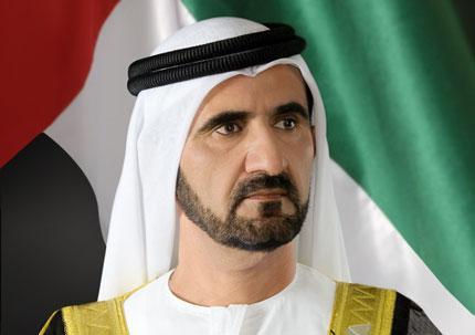 محمد بن راشد يستقبل ولي عهد قطر