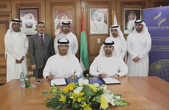 غرفة عجمان توقع اتفاقية الشراكة الاستراتيجية مع سياحة عجمان