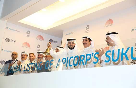 ابيكورب تقرع جرس بدء التداول احتفالاً بإدراج   صكوك بقيمة 500 مليون دولار أمريكي في ناسداك دبي