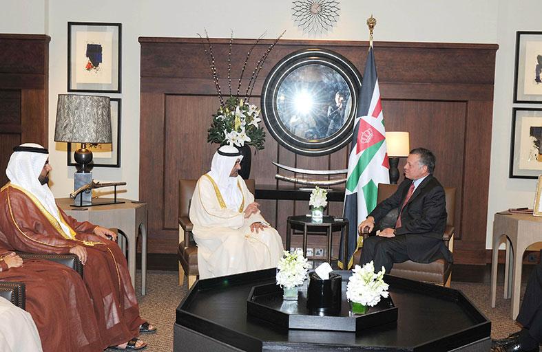 العاهل الأردني يستقبل حاكم الفجيرة
