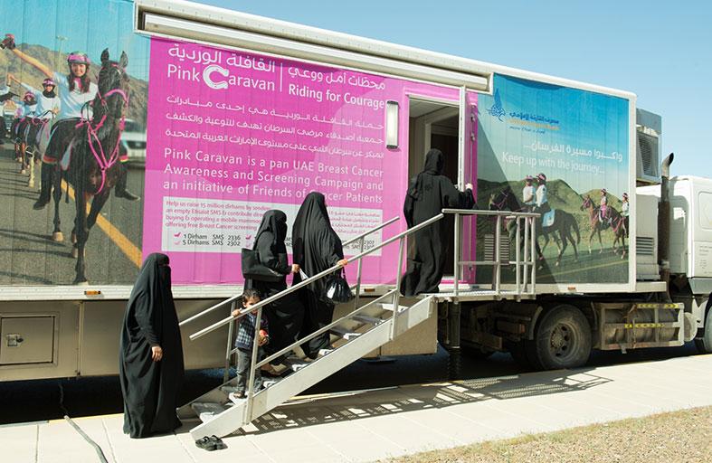 القافلة الوردية تعلن عن القيام بفحوصات مجانية للكشف عن سرطان الثدي يوم 30 يناير
