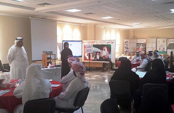 الهلال الأحمر بالشارقة ينظم دورة تدريبية عن الميثاق الإنساني في مجال الاستجابة للكوارث