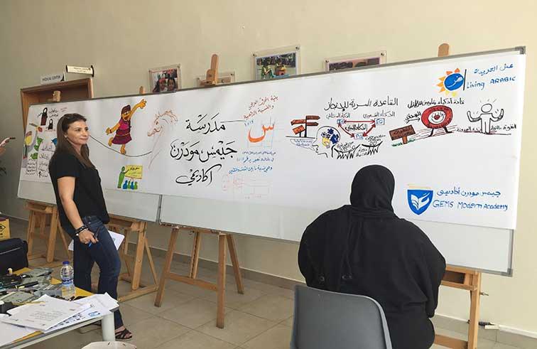 طلبة مدارس خاصة يطلقون مبادرة عش العربية في دبي