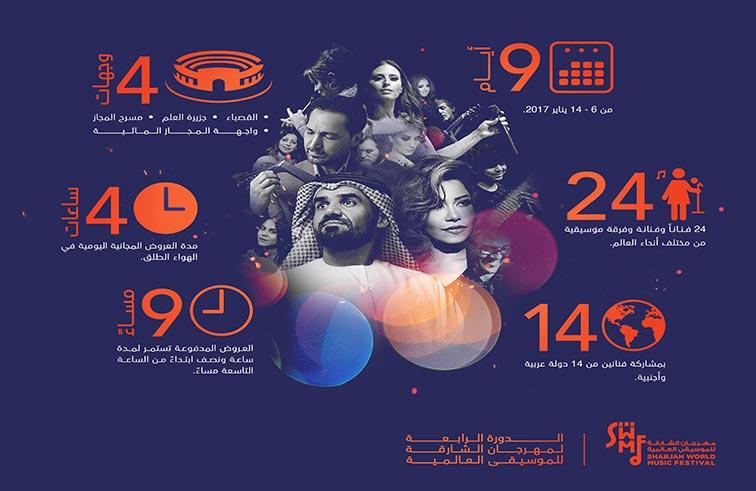 الشارقة للموسيقى العالمية .. 9 أيام من الاحتفاء بالفن العربي والعالمي