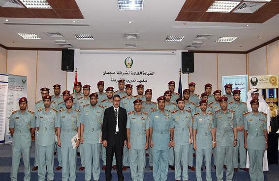 تخريج دورتين في القيادة العامة لشرطة عجمان
