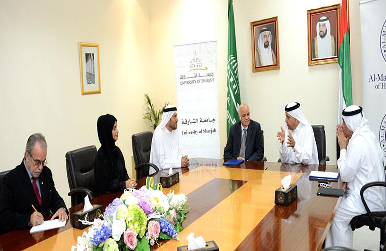 توقيع اتفاقية للتعاون بين جامعة الشارقة وكـلـية آل مكتوم للدراسات العليا