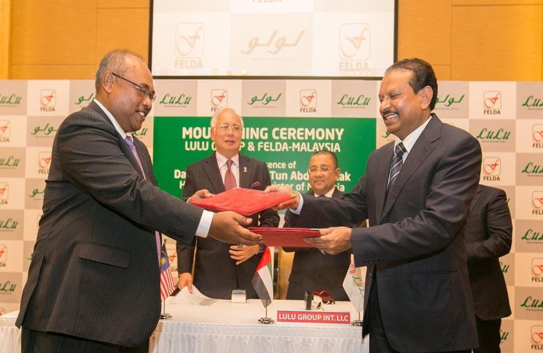 توقيع مذكرة تفاهم للتعاون بين لولو هايبر ماركت وفيلدا الماليزية