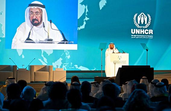 حاكم الشارقة يفتتح مؤتمر الاستثمار في المستقبل لحماية الأطفال اللاجئين في المنطقة