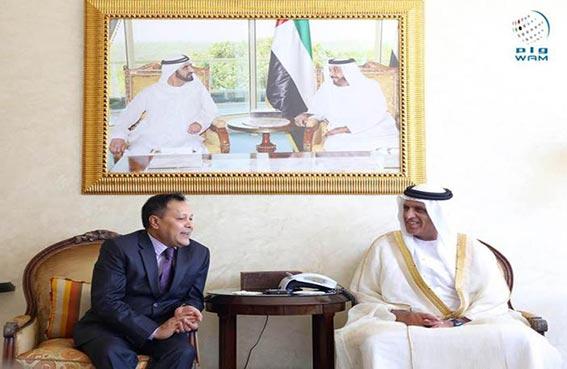 حاكم رأس الخيمة يستقبل قنصل عام بنغلاديش في دبي