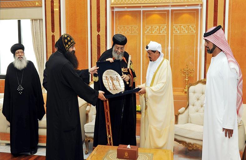 حاكم عجمان يستقبل البابا تواضروس الثاني