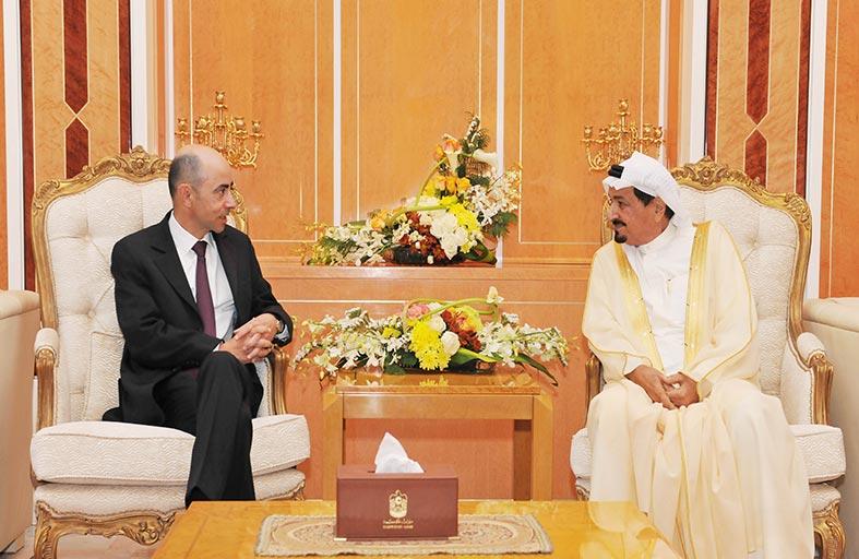 حاكم عجمان يستقبل القنصل العام الفرنسي