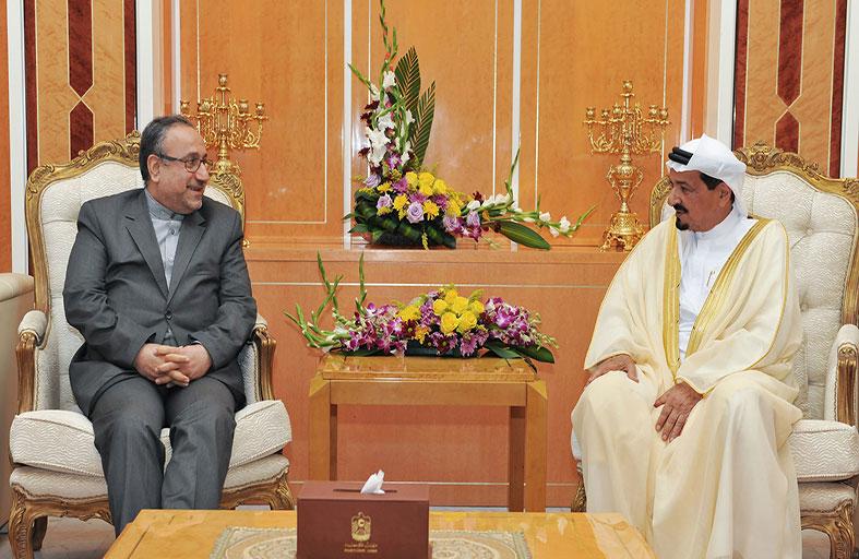 حاكم عجمان يستقبل قنصل إيران