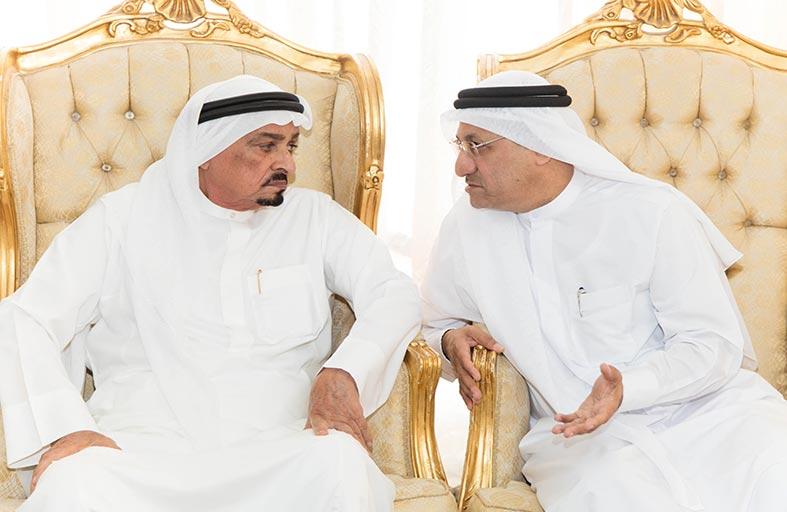 حاكم عجمان يعزي حميد القطامي بوفاة شقيقته