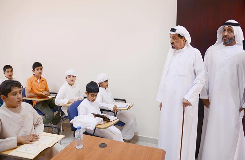 حاكم عجمان يفتتح مركز عبيد الحلو لتحفيظ القرآن الكريم بمنطقة مزيرع