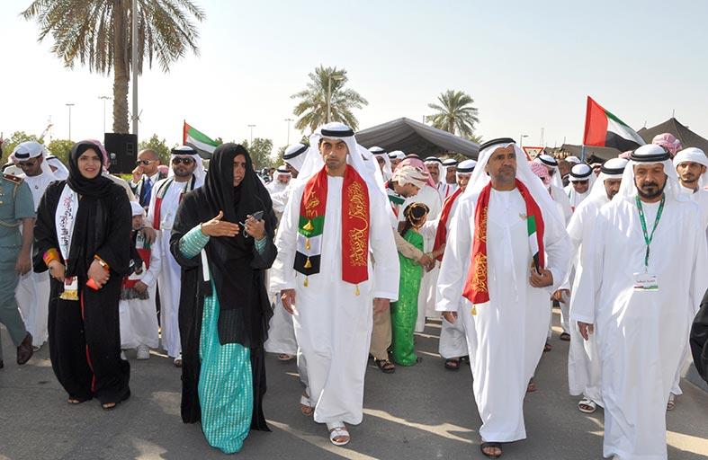 خالد بن زايد يشهد انطلاق احتفالات مؤسسة زايد العليا باليوم الوطني الـ 43