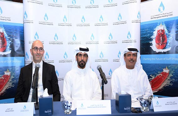 """«الخليج للملاحة القابضة"""" تعلن عن خططها التوسعية لزيادة أسطولها من السفن وتنمية عوائد خدماتها"""