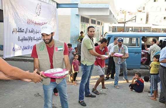 خيرية محمد بن راشد تواصل تقديم مساعداتها لسكان قطاع غزة