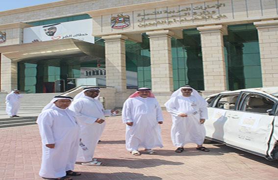 دار القضاء بأم القيوين تشارك بفعاليات أسبوع المرور الخليجي الموحد 2014