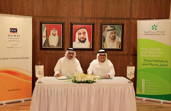 دبي الأكاديمية العالمية توقع مذكرة تفاهم مع المدينة الطبية