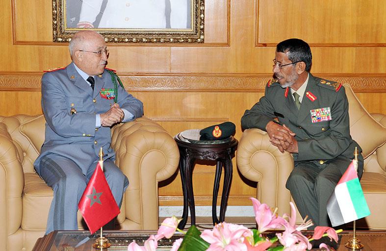 رئيس الأركان يبحث التعاون العسكري مع المفتش العام للقوات المغربية