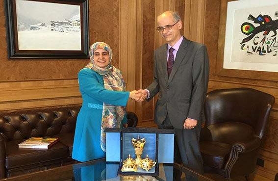سفيرة الدولة غير المقيمة تلتقي رئيس وزراء أندورا