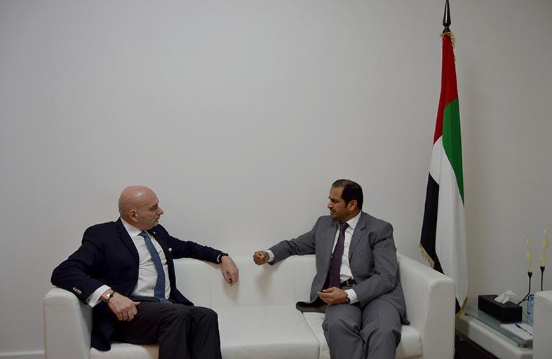 سفير الدولة يبحث ووزير الاقتصاد اللبناني  سبل تعزيز العلاقات التجارية بين البلدين