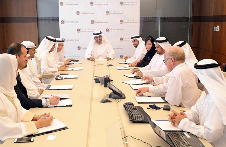سلطان الجابر: الوطني للإعلام يعمل على بلورة استراتيجية وطنية ورؤية مستقبلية تسهم في تحسين آليات عمل القطاع ورفع كفاءته