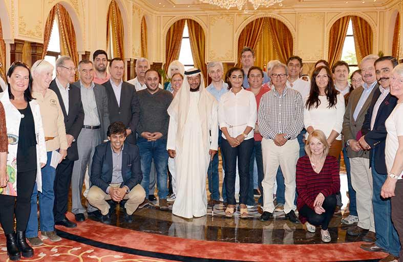 سلطان بن زايد يستقبل وفود الدول المشاركة في مهرجان سموه الدولي العاشر للفروسية