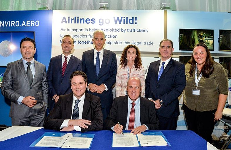 شركاء الاتحاد للطيران بالحصص يوقعون إعلاناً لدعم منع الإتجار غير المشروع بالحياة البرية