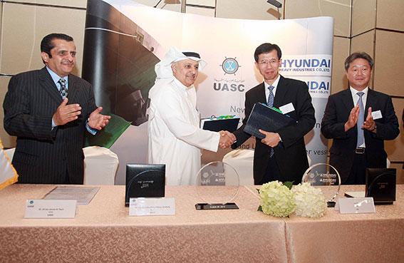 شركة الملاحة العربية المتحدة (UASC) تتعاقد مع هيونداي لبناء سفن تعدّ من أكبر السفن وأكثرها صداقة للبيئة في العالم